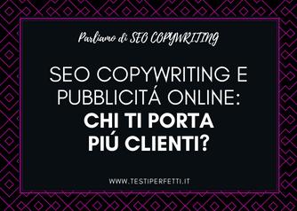 SEO copywriting e pubblicità online