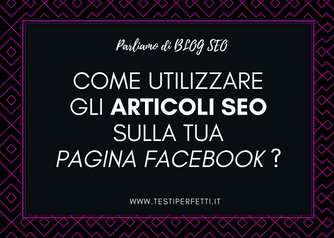 SEO COPYWRITING E FACEBOOK